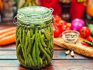 Рецепта Туршия от зелен боб с оцет